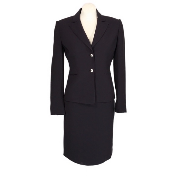 Tahari Jackets & Blazers - Tahari 2 Pc Skirt Suit ASL 2 Petite Dark Purple